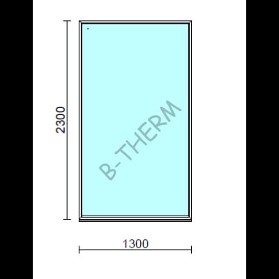 Fix ablak.  130x230 cm (Rendelhető méretek: szélesség 125-134 cm, magasság 225-234 cm.)   Optima 76 profilból