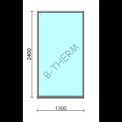 Fix ablak.  130x240 cm (Rendelhető méretek: szélesség 125-134 cm, magasság 235-240 cm.)   Optima 76 profilból