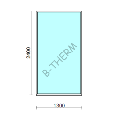 Fix ablak.  130x240 cm (Rendelhető méretek: szélesség 125-134 cm, magasság 235-240 cm.)  New Balance 85 profilból