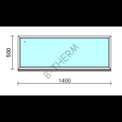 Fix ablak.  140x 50 cm (Rendelhető méretek: szélesség 135-144 cm, magasság 50-54 cm.)  New Balance 85 profilból