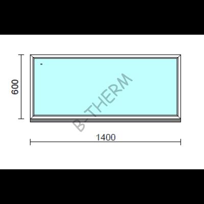 Fix ablak.  140x 60 cm (Rendelhető méretek: szélesség 135-144 cm, magasság 55-64 cm.)   Optima 76 profilból