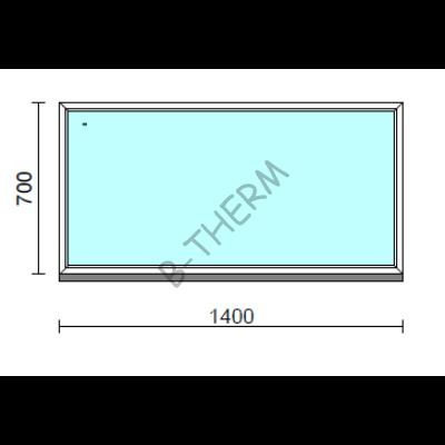 Fix ablak.  140x 70 cm (Rendelhető méretek: szélesség 135-144 cm, magasság 65-74 cm.)  New Balance 85 profilból