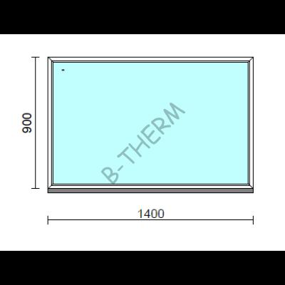 Fix ablak.  140x 90 cm (Rendelhető méretek: szélesség 135-144 cm, magasság 85-94 cm.)   Optima 76 profilból