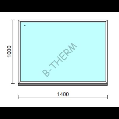 Fix ablak.  140x100 cm (Rendelhető méretek: szélesség 135-144 cm, magasság 95-104 cm.)   Optima 76 profilból