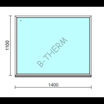 Fix ablak.  140x110 cm (Rendelhető méretek: szélesség 135-144 cm, magasság 105-114 cm.)   Optima 76 profilból