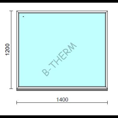 Fix ablak.  140x120 cm (Rendelhető méretek: szélesség 135-144 cm, magasság 115-124 cm.)  New Balance 85 profilból
