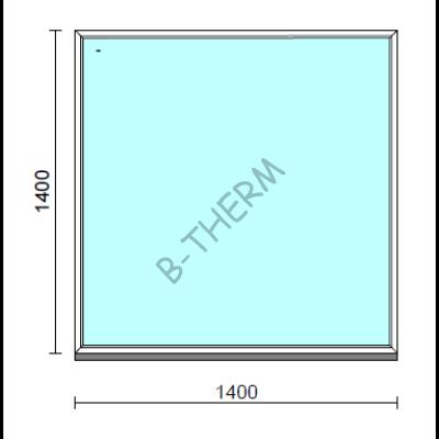 Fix ablak.  140x140 cm (Rendelhető méretek: szélesség 135-144 cm, magasság 135-144 cm.)   Optima 76 profilból