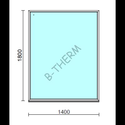 Fix ablak.  140x180 cm (Rendelhető méretek: szélesség 135-144 cm, magasság 175-184 cm.)  New Balance 85 profilból