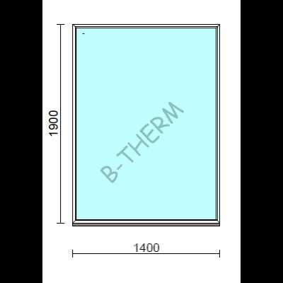 Fix ablak.  140x190 cm (Rendelhető méretek: szélesség 135-144 cm, magasság 185-194 cm.)   Optima 76 profilból