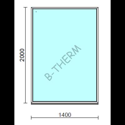Fix ablak.  140x200 cm (Rendelhető méretek: szélesség 135-144 cm, magasság 195-204 cm.)   Optima 76 profilból