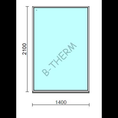 Fix ablak.  140x210 cm (Rendelhető méretek: szélesség 135-144 cm, magasság 205-214 cm.)  New Balance 85 profilból