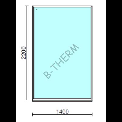 Fix ablak.  140x220 cm (Rendelhető méretek: szélesség 135-144 cm, magasság 215-224 cm.)   Optima 76 profilból