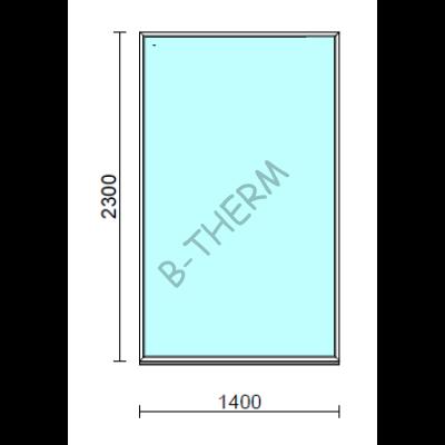 Fix ablak.  140x230 cm (Rendelhető méretek: szélesség 135-144 cm, magasság 225-234 cm.)   Optima 76 profilból