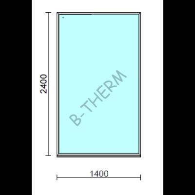 Fix ablak.  140x240 cm (Rendelhető méretek: szélesség 135-144 cm, magasság 235-240 cm.)   Optima 76 profilból