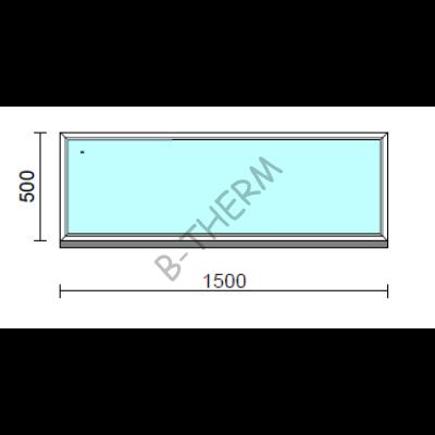 Fix ablak.  150x 50 cm (Rendelhető méretek: szélesség 145-154 cm, magasság 50-54 cm.) Deluxe A85 profilból