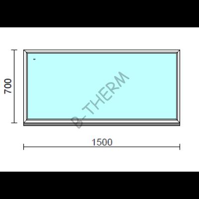 Fix ablak.  150x 70 cm (Rendelhető méretek: szélesség 145-154 cm, magasság 65-74 cm.)  New Balance 85 profilból