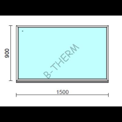 Fix ablak.  150x 90 cm (Rendelhető méretek: szélesség 145-154 cm, magasság 85-94 cm.)  New Balance 85 profilból