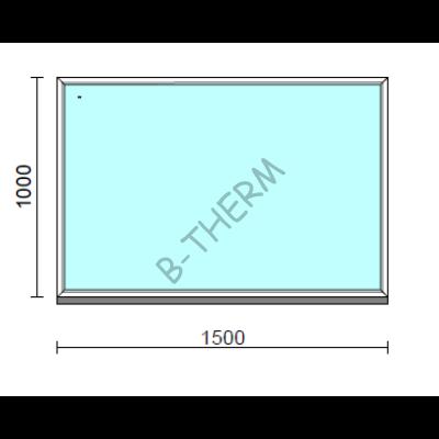 Fix ablak.  150x100 cm (Rendelhető méretek: szélesség 145-154 cm, magasság 95-104 cm.)  New Balance 85 profilból