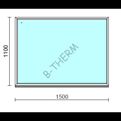 Fix ablak.  150x110 cm (Rendelhető méretek: szélesség 145-154 cm, magasság 105-114 cm.)  New Balance 85 profilból