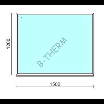 Fix ablak.  150x120 cm (Rendelhető méretek: szélesség 145-154 cm, magasság 115-124 cm.)  New Balance 85 profilból