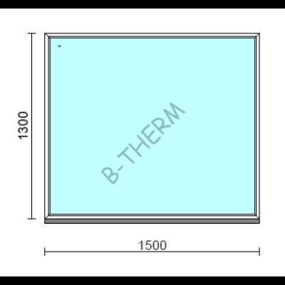 Fix ablak.  150x130 cm (Rendelhető méretek: szélesség 145-154 cm, magasság 125-134 cm.)  New Balance 85 profilból