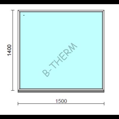 Fix ablak.  150x140 cm (Rendelhető méretek: szélesség 145-154 cm, magasság 135-144 cm.)  New Balance 85 profilból