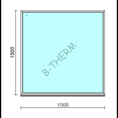 Fix ablak.  150x150 cm (Rendelhető méretek: szélesség 145-154 cm, magasság 145-154 cm.)  New Balance 85 profilból