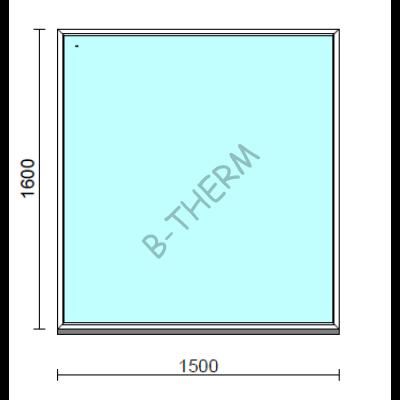 Fix ablak.  150x160 cm (Rendelhető méretek: szélesség 145-154 cm, magasság 155-164 cm.)  New Balance 85 profilból