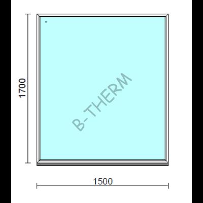 Fix ablak.  150x170 cm (Rendelhető méretek: szélesség 145-154 cm, magasság 165-174 cm.)  New Balance 85 profilból