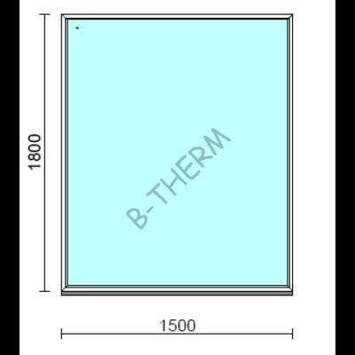 Fix ablak.  150x180 cm (Rendelhető méretek: szélesség 145-154 cm, magasság 175-184 cm.)  New Balance 85 profilból