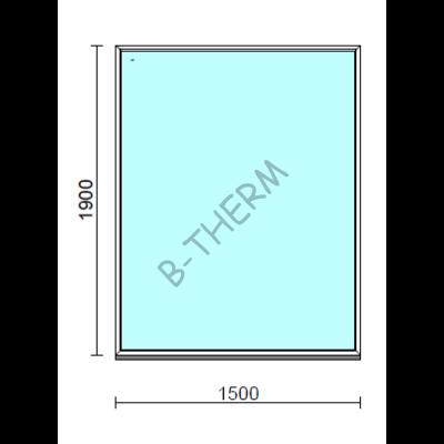 Fix ablak.  150x190 cm (Rendelhető méretek: szélesség 145-154 cm, magasság 185-194 cm.)  New Balance 85 profilból