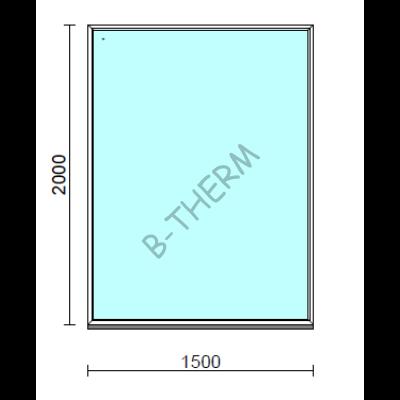 Fix ablak.  150x200 cm (Rendelhető méretek: szélesség 145-154 cm, magasság 195-204 cm.)  New Balance 85 profilból
