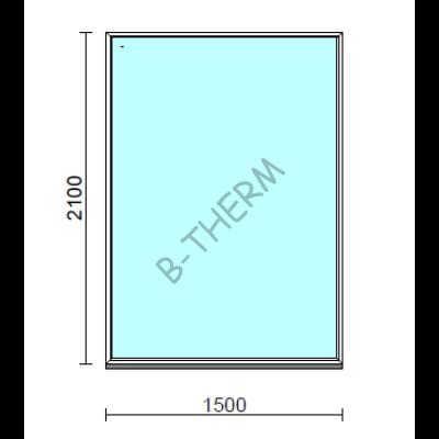 Fix ablak.  150x210 cm (Rendelhető méretek: szélesség 145-154 cm, magasság 205-214 cm.)  New Balance 85 profilból