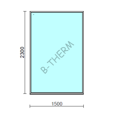 Fix ablak.  150x230 cm (Rendelhető méretek: szélesség 145-154 cm, magasság 225-234 cm.)  New Balance 85 profilból