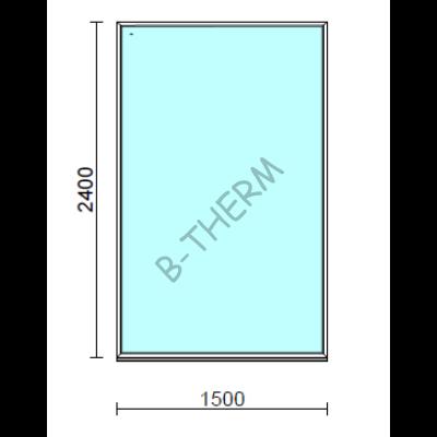 Fix ablak.  150x240 cm (Rendelhető méretek: szélesség 145-150 cm, magasság 235-240 cm.)  New Balance 85 profilból