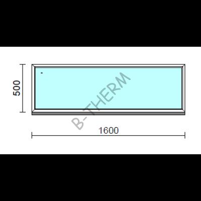 Fix ablak.  160x 50 cm (Rendelhető méretek: szélesség 155-164 cm, magasság 50-54 cm.)  New Balance 85 profilból