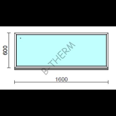 Fix ablak.  160x 60 cm (Rendelhető méretek: szélesség 155-164 cm, magasság 55-64 cm.)  New Balance 85 profilból