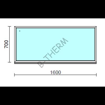 Fix ablak.  160x 70 cm (Rendelhető méretek: szélesség 155-164 cm, magasság 65-74 cm.)  New Balance 85 profilból