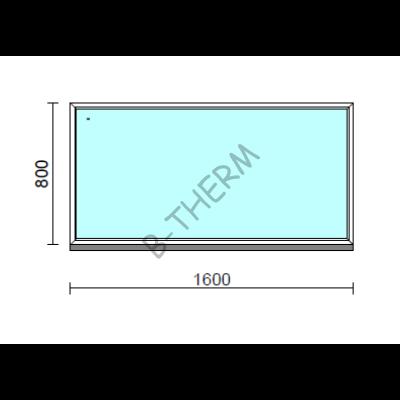 Fix ablak.  160x 80 cm (Rendelhető méretek: szélesség 155-164 cm, magasság 75-84 cm.)  New Balance 85 profilból