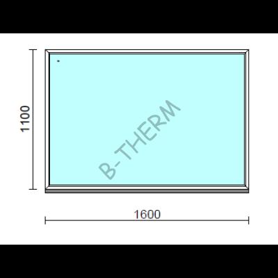 Fix ablak.  160x110 cm (Rendelhető méretek: szélesség 155-164 cm, magasság 105-114 cm.)  New Balance 85 profilból