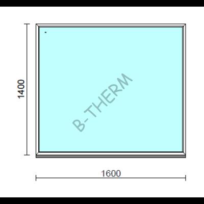 Fix ablak.  160x140 cm (Rendelhető méretek: szélesség 155-164 cm, magasság 135-144 cm.)  New Balance 85 profilból