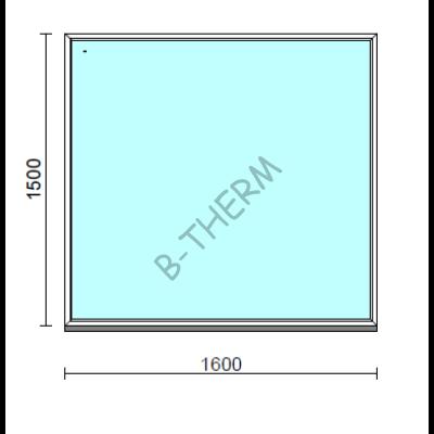 Fix ablak.  160x150 cm (Rendelhető méretek: szélesség 155-164 cm, magasság 145-154 cm.)  New Balance 85 profilból