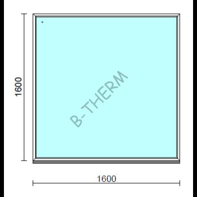 Fix ablak.  160x160 cm (Rendelhető méretek: szélesség 155-164 cm, magasság 155-164 cm.)  New Balance 85 profilból