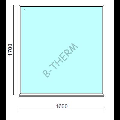 Fix ablak.  160x170 cm (Rendelhető méretek: szélesség 155-164 cm, magasság 165-174 cm.)  New Balance 85 profilból
