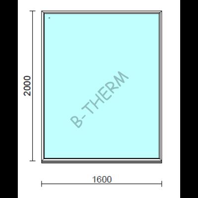 Fix ablak.  160x200 cm (Rendelhető méretek: szélesség 155-164 cm, magasság 195-204 cm.)  New Balance 85 profilból