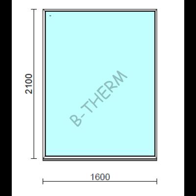 Fix ablak.  160x210 cm (Rendelhető méretek: szélesség 155-164 cm, magasság 205-214 cm.)  New Balance 85 profilból