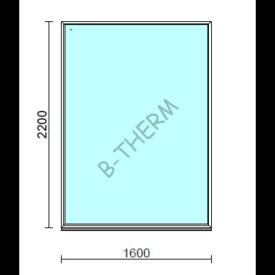 Fix ablak.  160x220 cm (Rendelhető méretek: szélesség 155-164 cm, magasság 215-224 cm.)  New Balance 85 profilból