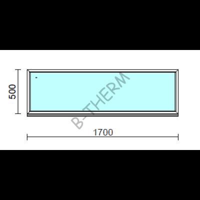 Fix ablak.  170x 50 cm (Rendelhető méretek: szélesség 165-174 cm, magasság 50-54 cm.)  New Balance 85 profilból
