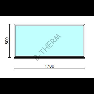 Fix ablak.  170x 80 cm (Rendelhető méretek: szélesség 165-174 cm, magasság 75-84 cm.)  New Balance 85 profilból