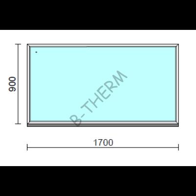 Fix ablak.  170x 90 cm (Rendelhető méretek: szélesség 165-174 cm, magasság 85-94 cm.)  New Balance 85 profilból